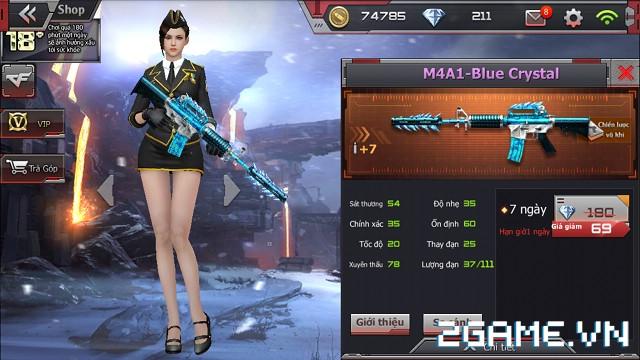 Crossfire Legends - Giá ngon mỗi ngày (31.07): Dùng M4A1-Blue Crystal 7 ngày thả ga chỉ với 69 gem 1
