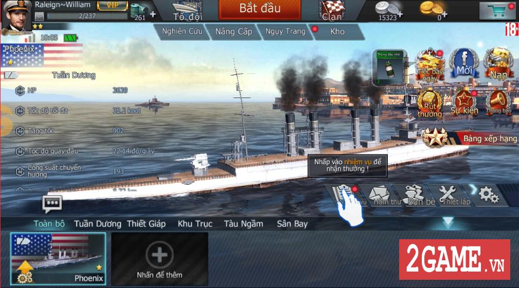 Cận cảnh 3 kiểu tàu chiến ưa dùng nhất trong Thủy Chiến 3D mobile 0