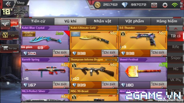 Crossfire Legends - Cập nhật cửa hàng: Mở bán không giới hạn rương AN94-Smilodon & vĩnh viễn 2 vũ khí VIP 1