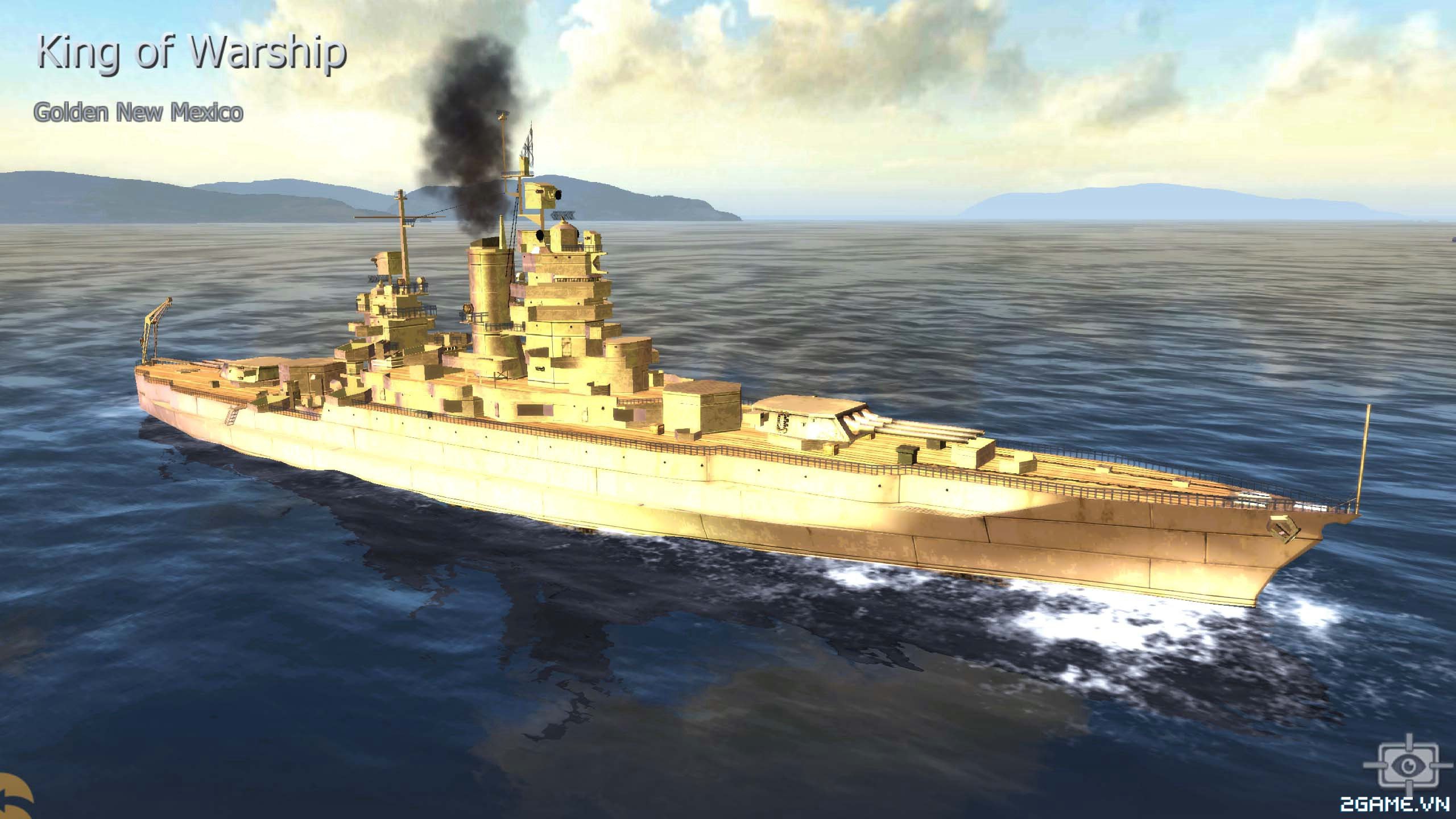 Thủy Chiến 3D mobile - Thiết giáp hạm Gold New Mexico 0