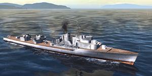Thủy Chiến 3D mobile – Khu trục hạm Anshan