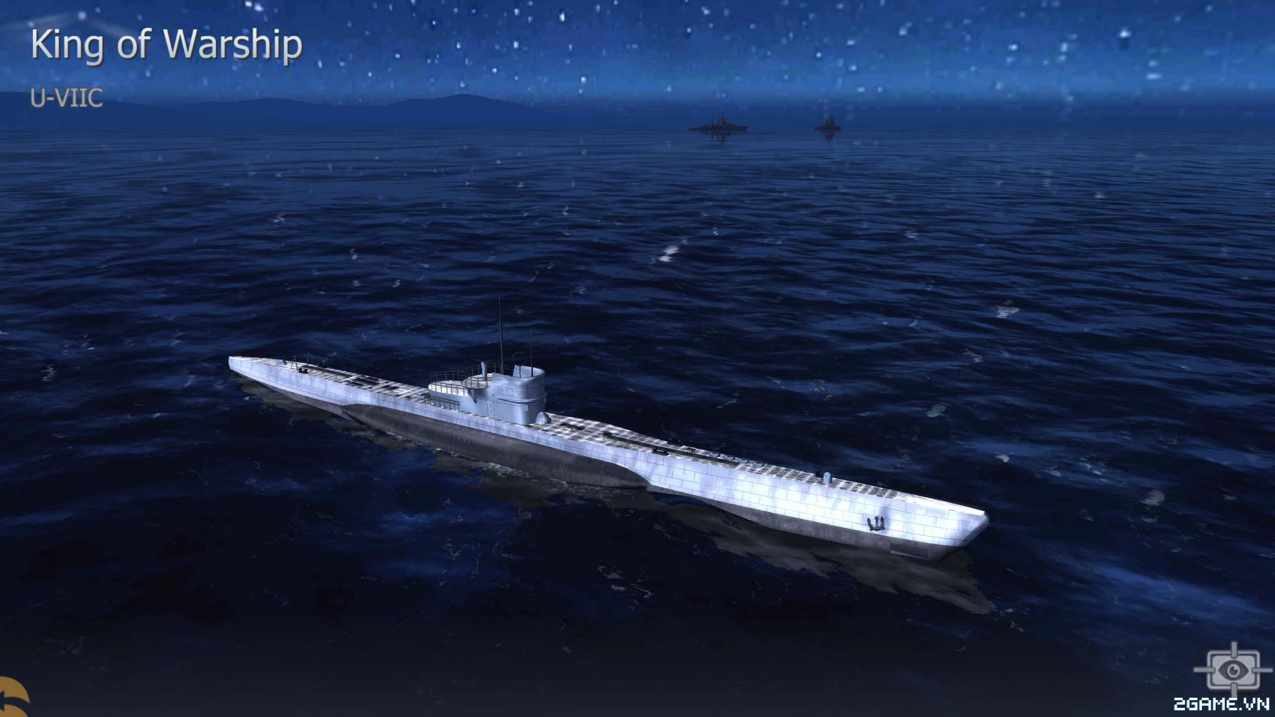 Thủy Chiến 3D mobile - Tàu ngầm U-VIIC 0