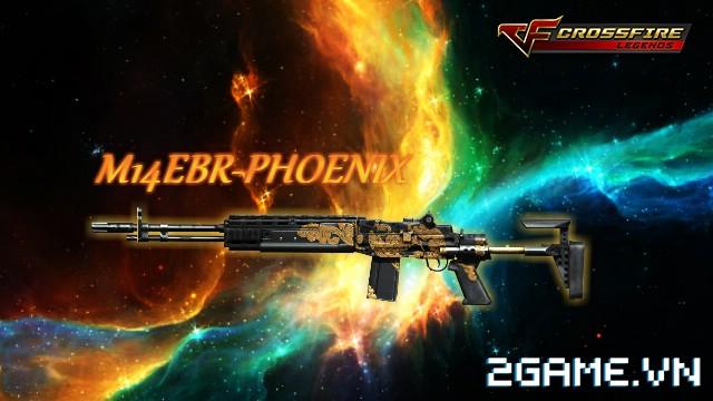Crossfire Legends - Giá ngon mỗi ngày (03.08): Cơ hội chơi thử M14EBR-Phoenix 7 ngày chỉ 69 gem 0