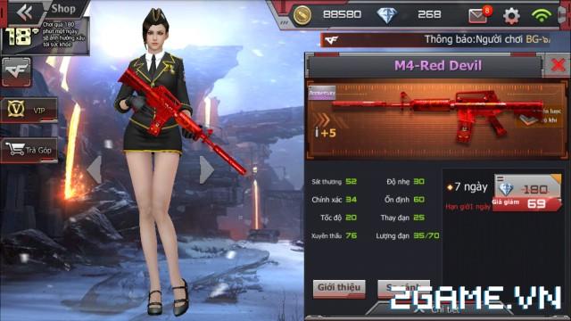 Crossfire Legends - Cửa hàng hôm nay: M4-Red Devil lên kệ gói 7 ngày, mở bán rương B.C Axe-Beast & rương Barrett-Wukong 1