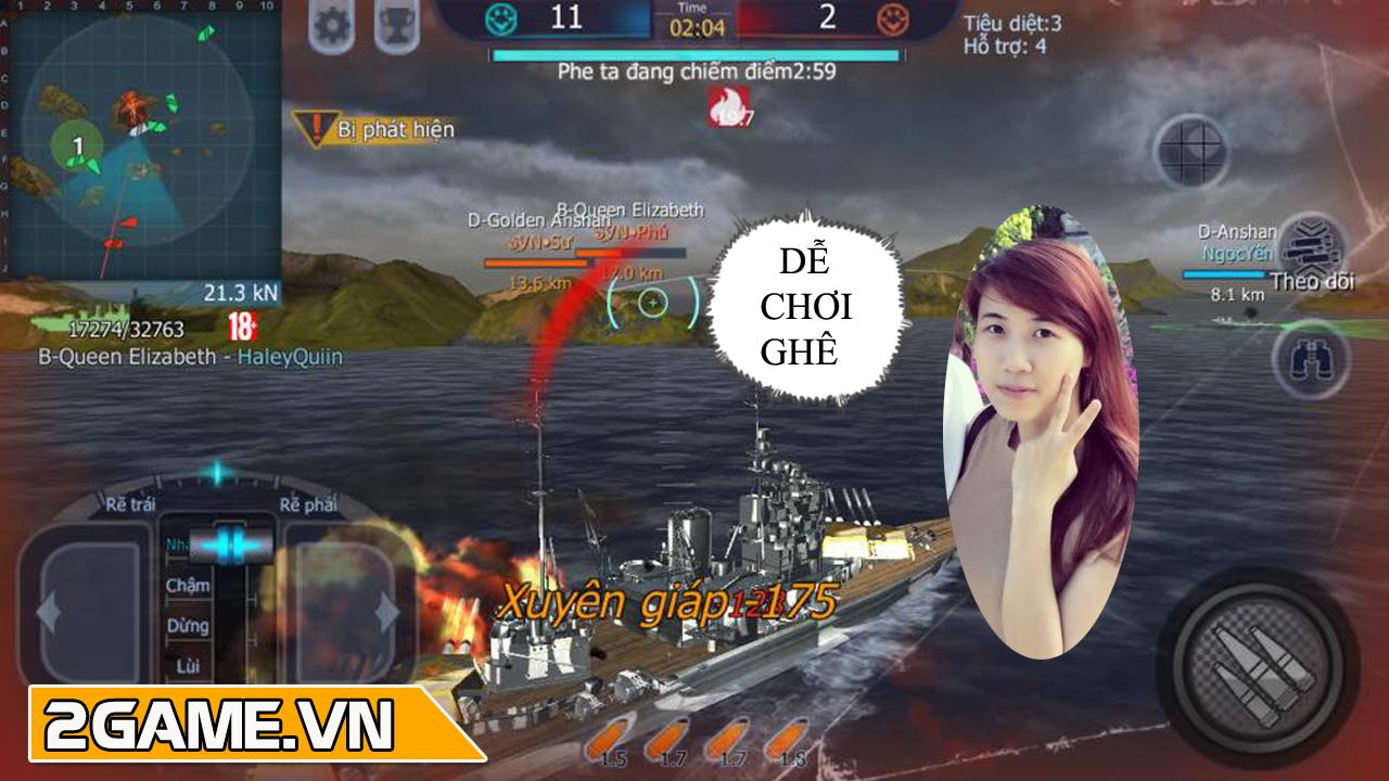 Con gái cũng có thể chơi tốt Thủy Chiến 3D Mobile 0