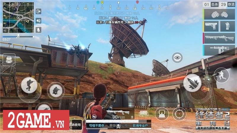 Kẻ Hủy Diệt 2 Mobile hé lộ chế độ chơi kiểu PlayerUnknown's Battlegrounds 4