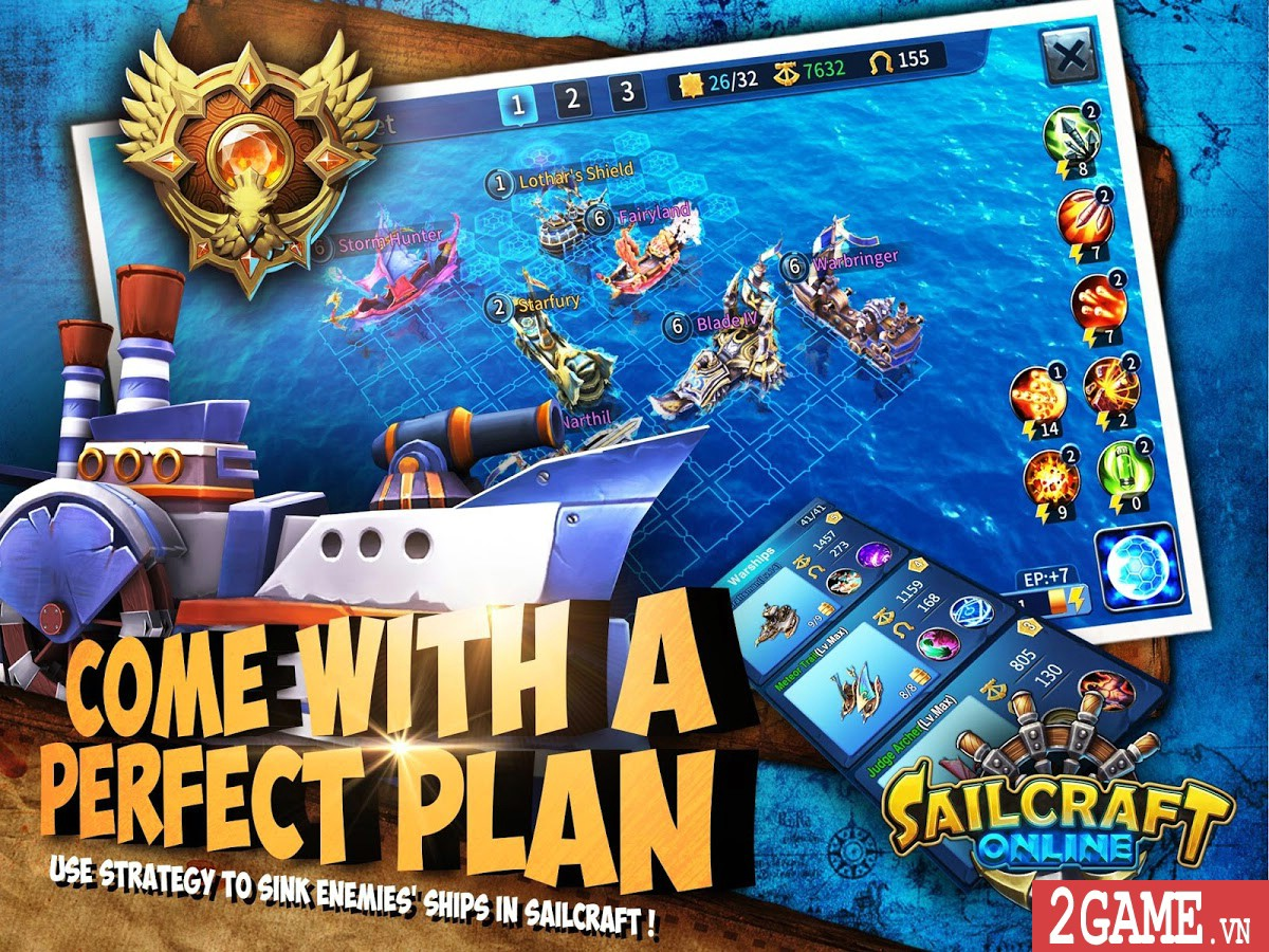 SailCraft – Game chiến thuật đánh theo lượt lấy đề tài Hải chiến 3