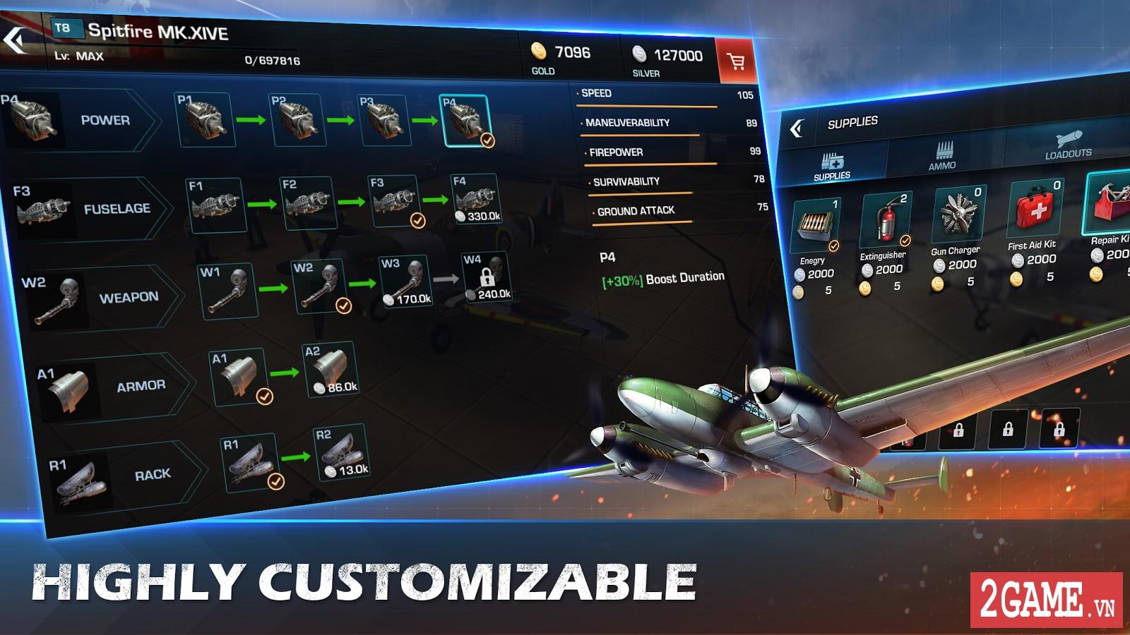 War Wings - Game bắn máy bay trực tuyến hay tuyệt cú mèo dành cho mobile game 3