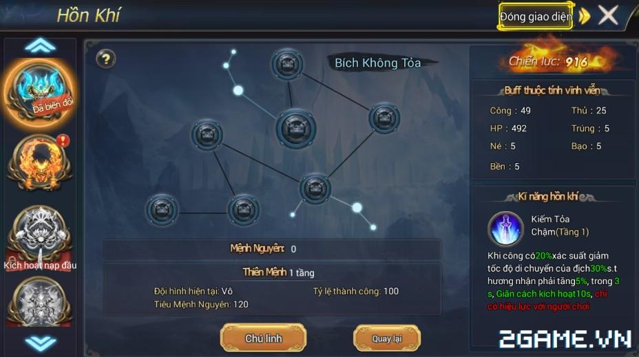 Ngự Kiếm Phi Thiên - Tính năng hồn khí 8