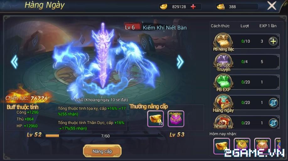 Ngự Kiếm Phi Thiên - Hệ thống kiếm dạ 0