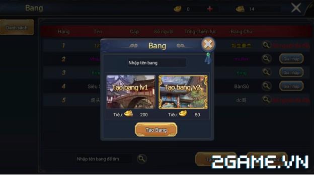 Ngự Kiếm Phi Thiên - Hệ thống bang hội 0