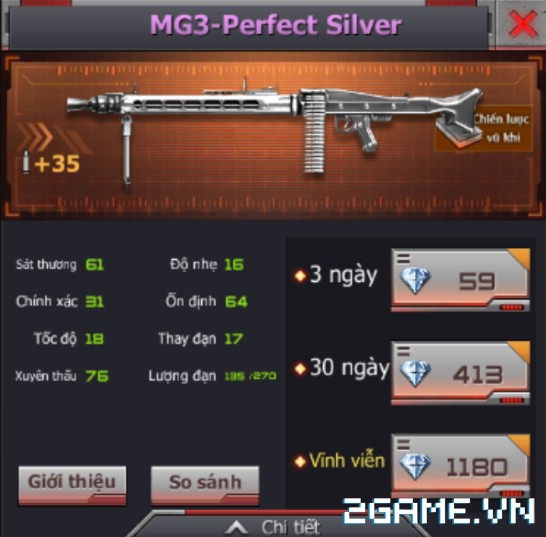 Crossfire Legends - Chi tiết 6 súng tím vĩnh viễn trong rương mì gói 4