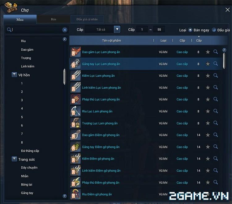 Blade and Soul Việt Nam - Cách kiếm vũ khí giai đoạn đầu game 7