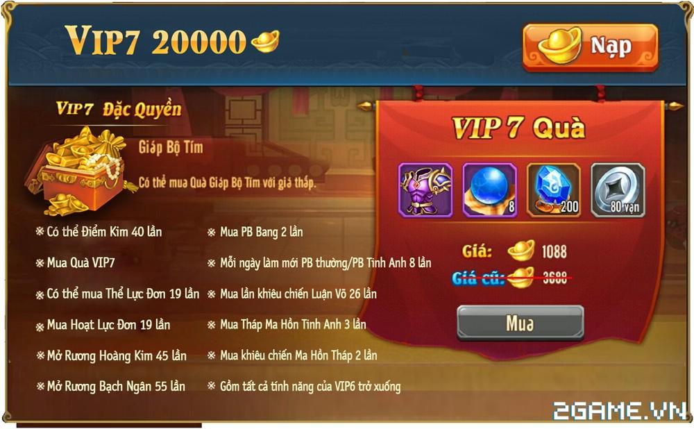 OMG 3Q VNG - Phúc lợi VIP 7