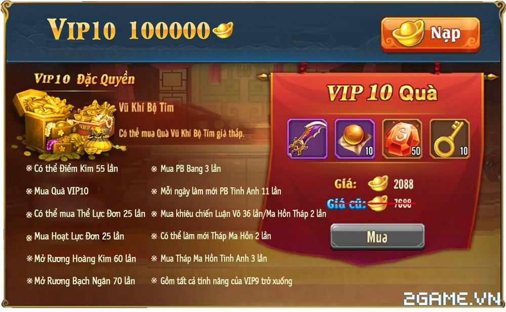 OMG 3Q VNG - Phúc lợi VIP 10
