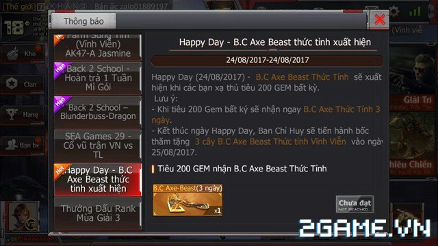 Crossfire Legends - Happy Day: Tiêu gem ngay, nhận quà hay 0