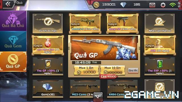 Crossfire Legends - Vòng quay gem & GP thay đổi vật phẩm mới 1