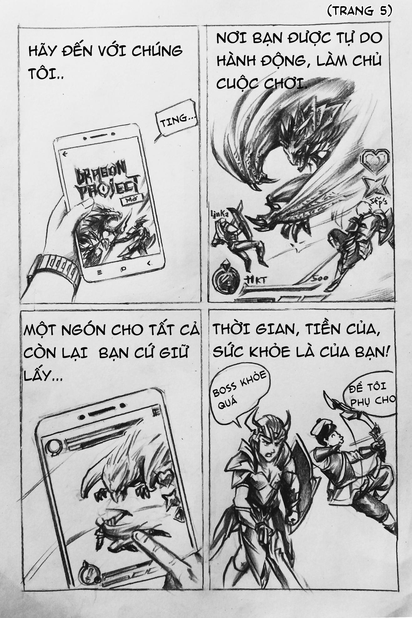Dragon Project : Săn Rồng Mobile tuyên truyền thông điệp