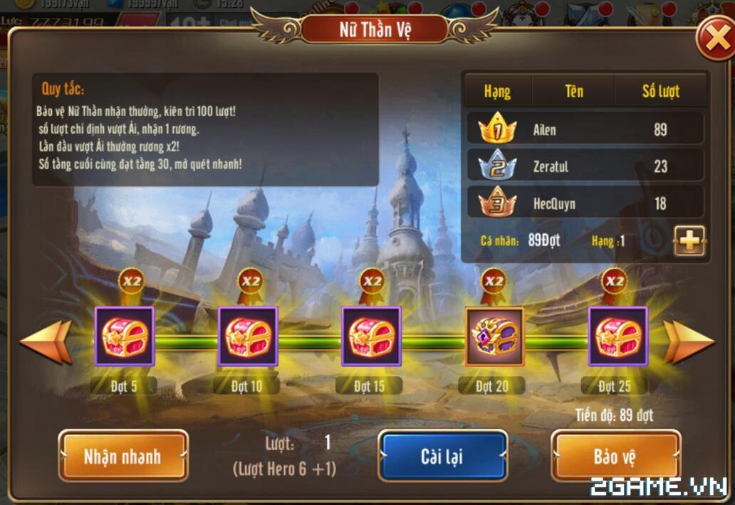 Kỵ Sĩ Rồng Mobile - Hoạt Động Nữ Thần Vệ 1