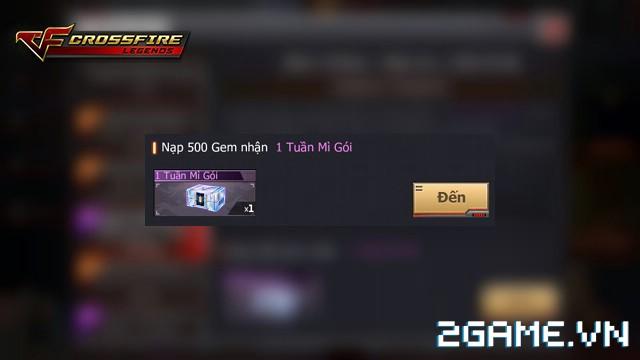 Crossfire Legends - Nạp 500 gem nhận súng tím vĩnh viễn 0