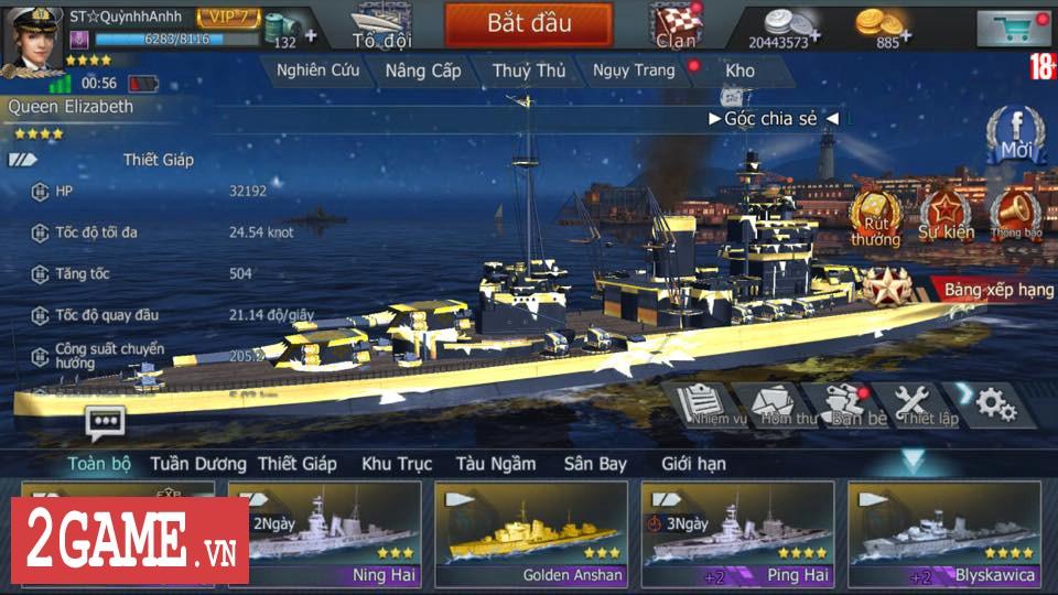 Những Thuyền trưởng đầu tiên đạt ngưỡng cấp cao nhất Thủy Chiến 3D Mobile lần lượt lộ diện 3