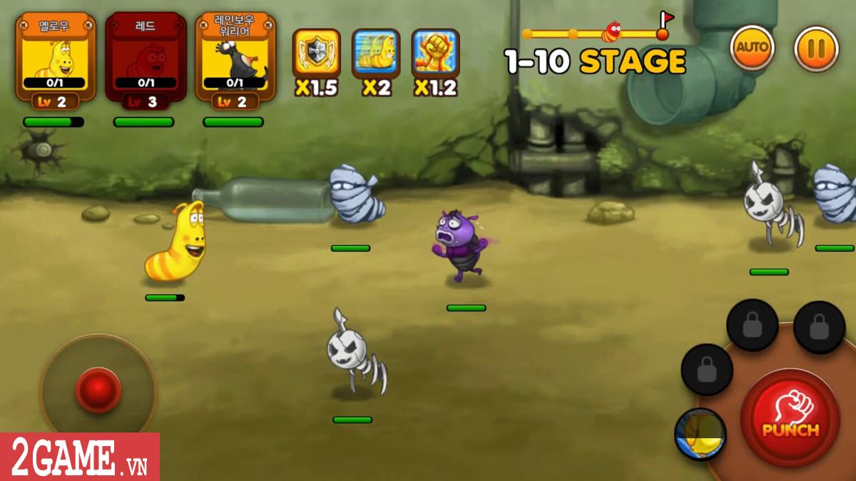 Larva Action Fighter – Game nhập vai đi cảnh max vui nhộn 0