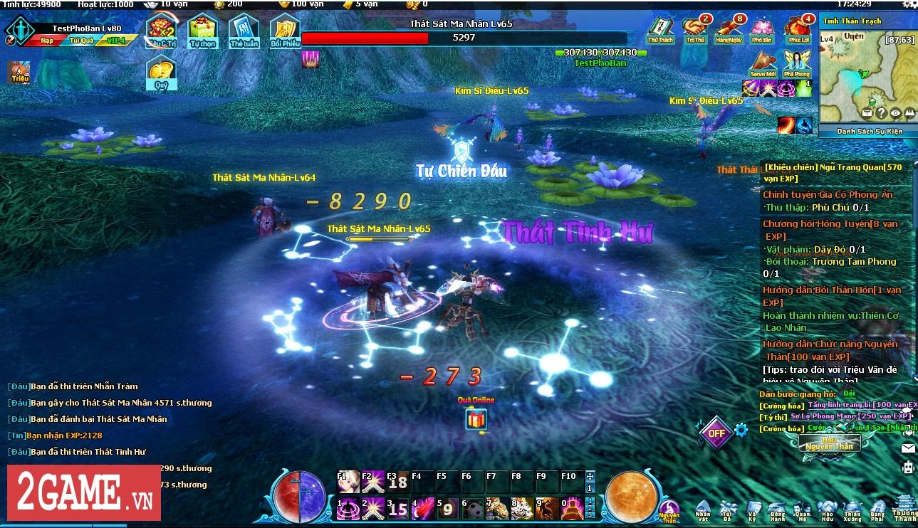 Điểm mặt những hoạt động kiếm hiệp trong game tiên hiệp Ngũ Thần Online 0
