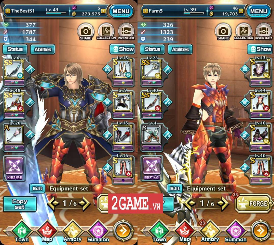 Trong Dragon Project - Săn Rồng Mobile chỉ cần thay một món đồ tức khắc nhân vật thay đổi diện mạo theo 1