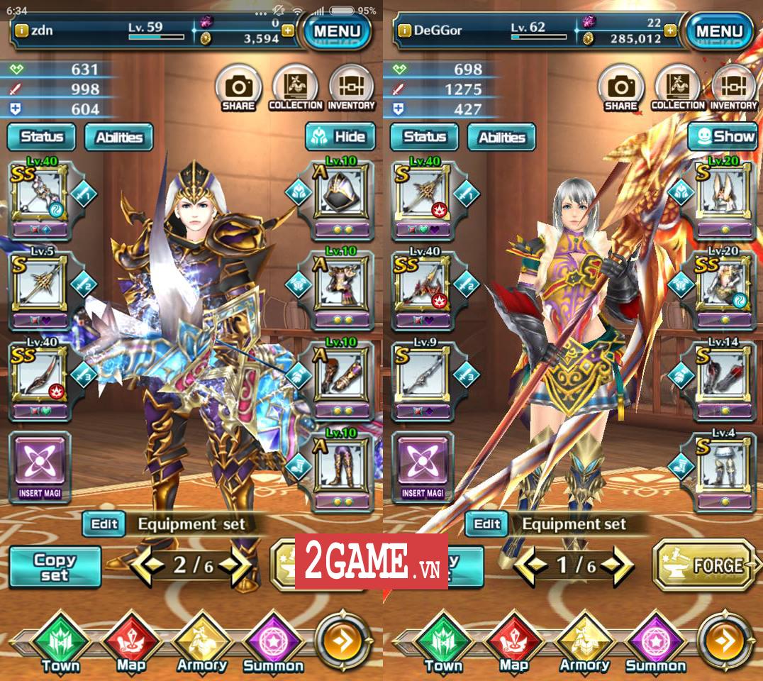 Trong Dragon Project - Săn Rồng Mobile chỉ cần thay một món đồ tức khắc nhân vật thay đổi diện mạo theo 3