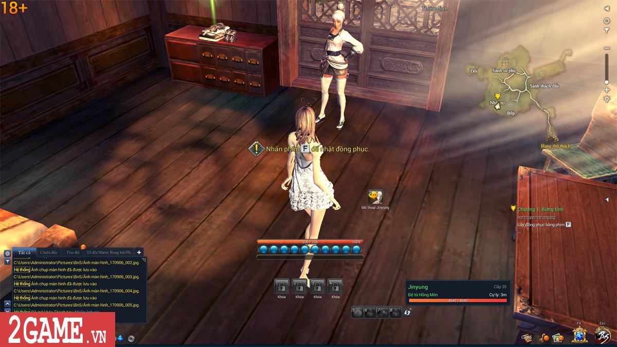 Nữ game thủ phát hoảng khi trông thấy nhân vật trần trụi trong Blade and Soul Việt Nam 2