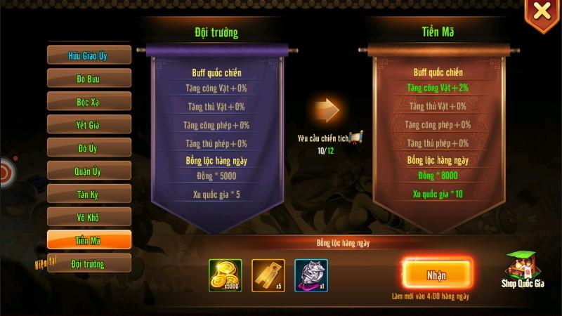 Tặng 346 giftcode Tam Quốc GO 5