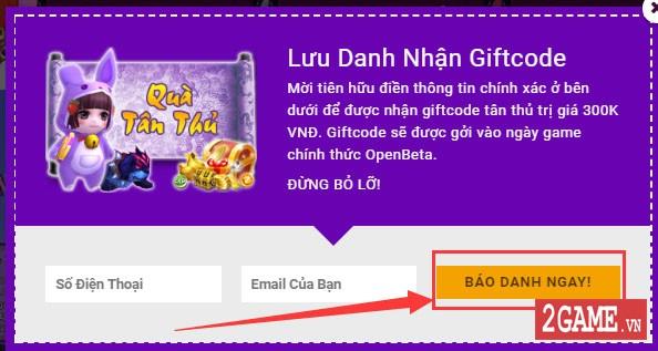 Ngũ Thần Online - Hướng Dẫn Nhận Giftcode Tân Thủ 3