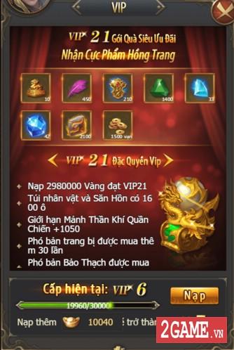 Kiếm Linh H5 - Hệ Thống VIP 1