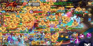 Kỵ Sĩ Rồng Mobile có lẽ là tựa MMORPG 2D hiếm hoi trên mobile mang đến cảnh đông đúc như vầy!