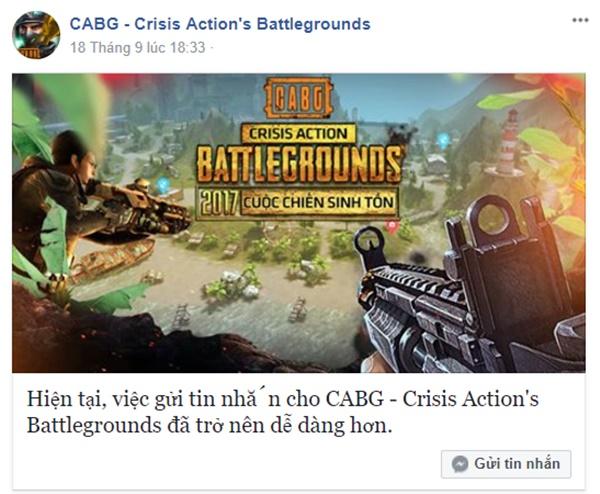 CABG có phải là phiên bản của game PUBG sắp phát hành tại Việt Nam?