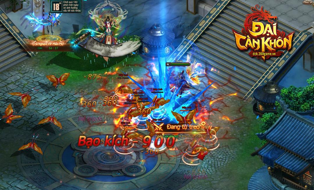 Mỗi server trong webgame Đại Càn Khôn là một quốc gia riêng biệt cho người chơi thỏa sức liên đấu 1