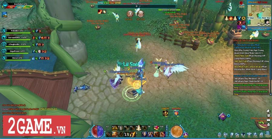 Ngũ Thần Online cho người chơi tự do luyện cấp săn đồ thả cửa 2