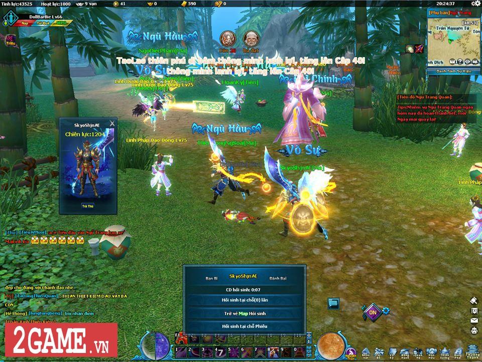 Ngũ Thần Online cho người chơi tự do luyện cấp săn đồ thả cửa 1