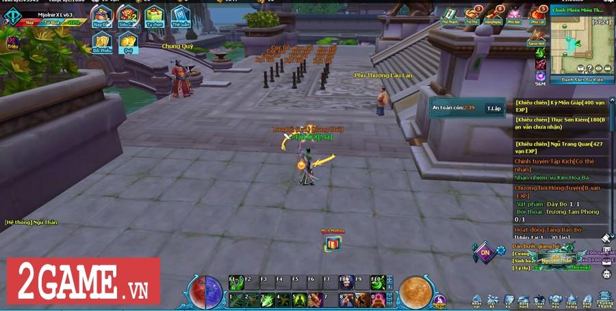 Ngũ Thần Online cho người chơi tự do luyện cấp săn đồ thả cửa 0