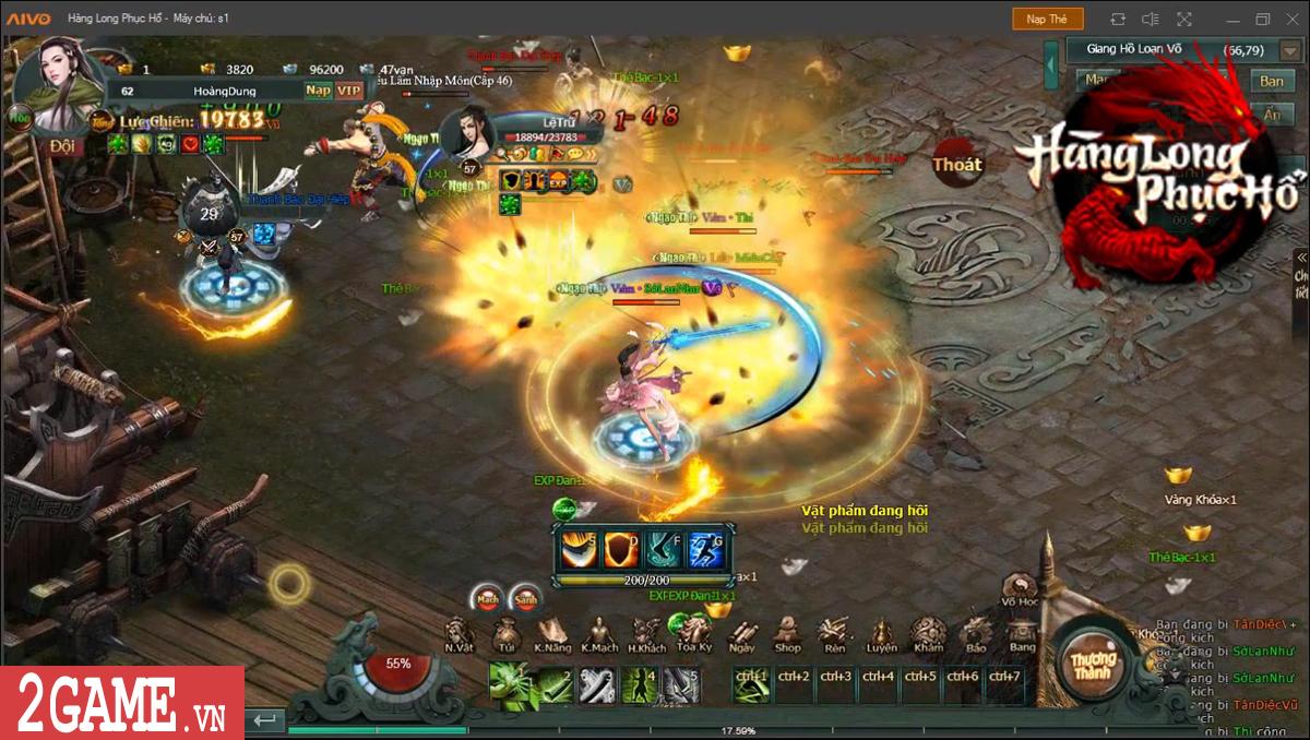 Game Hàng Long Phục Hổ cũng có hẳn một bản đồ chơi theo kiểu sinh tử chiến đầy máu lửa 2