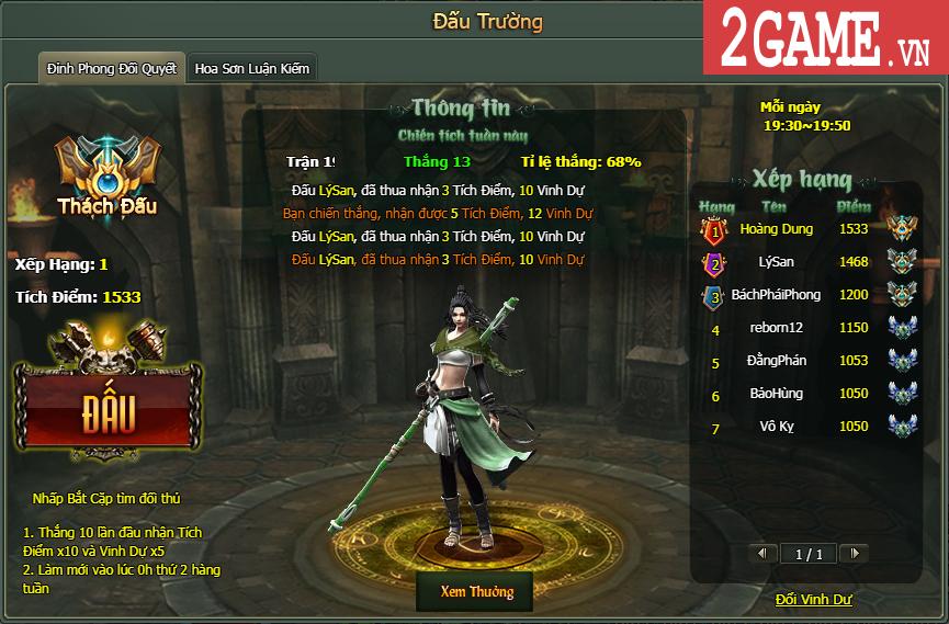 Trải nghiệm Lôi đài Tỷ võ đậm chất đối kháng trong game Hàng Long Phục Hổ 1