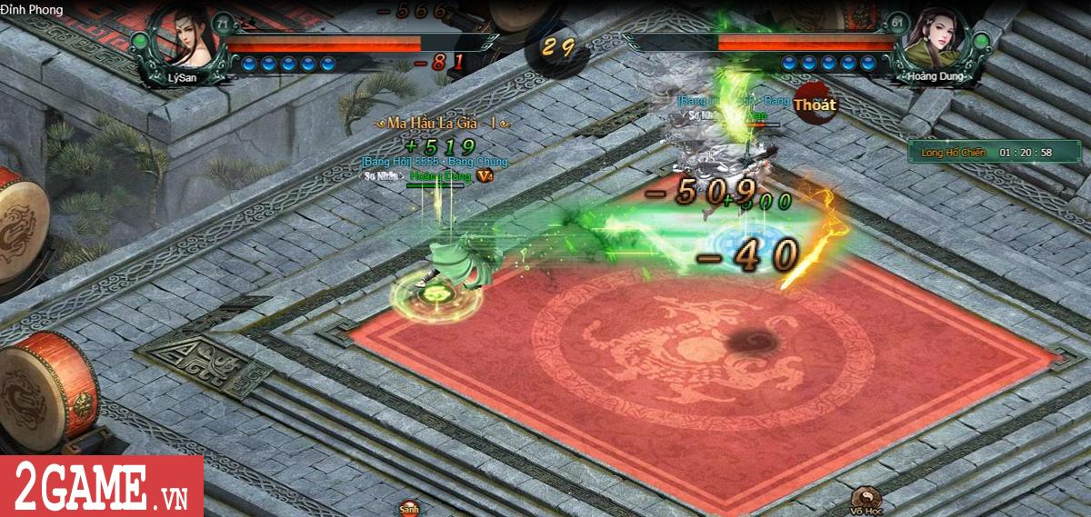 Trải nghiệm Lôi đài Tỷ võ đậm chất đối kháng trong game Hàng Long Phục Hổ 3