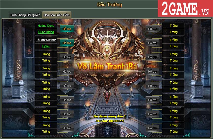 Trở thành Võ lâm minh chủ trong game Hàng Long Phục Hổ thông qua Hoa Sơn Luận Kiếm 1