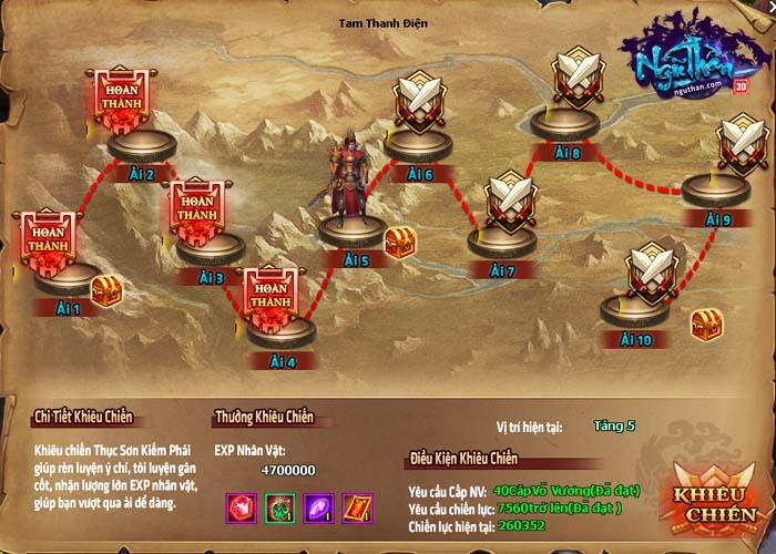 Điểm mặt những hoạt động kiếm hiệp trong game tiên hiệp Ngũ Thần Online 15