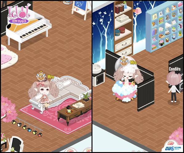 Cận cảnh hệ thống gia viên sống động của game Idol Thời Trang Mobile 2