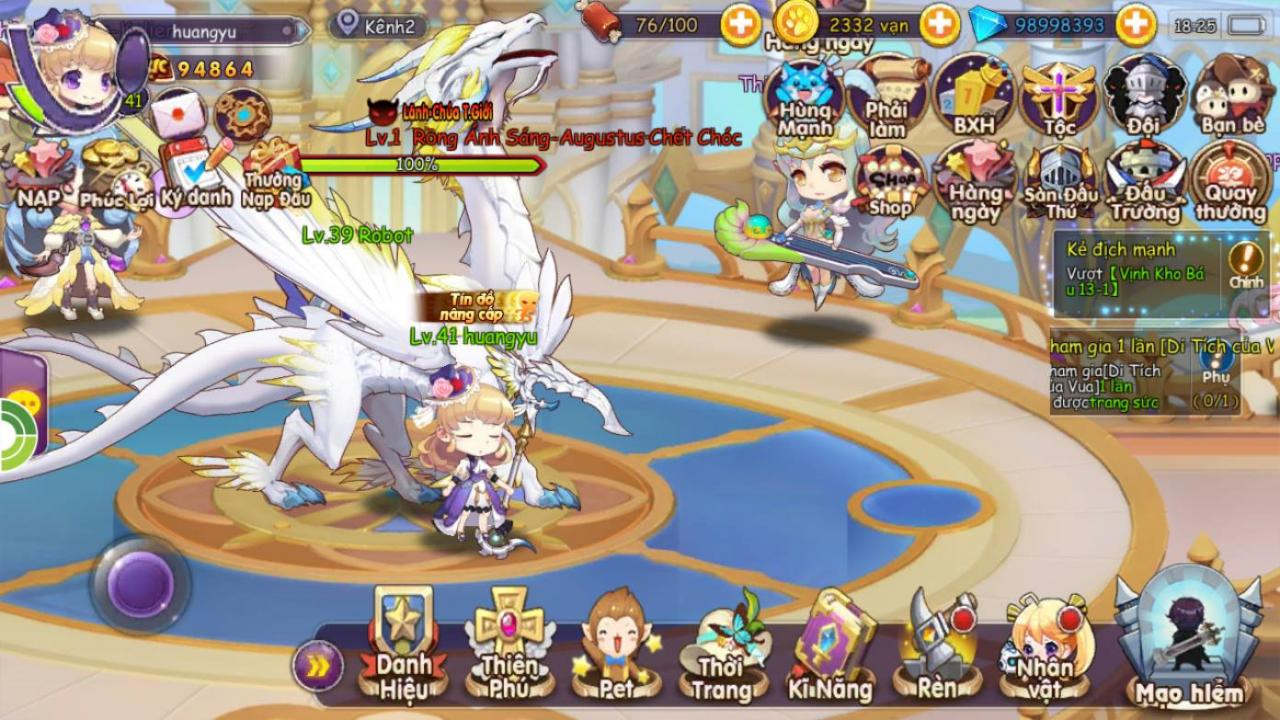 Cảm nhận Sứ Mệnh Rồng Mobile: Game nhập vai hành động đáng yêu vô cùng 1