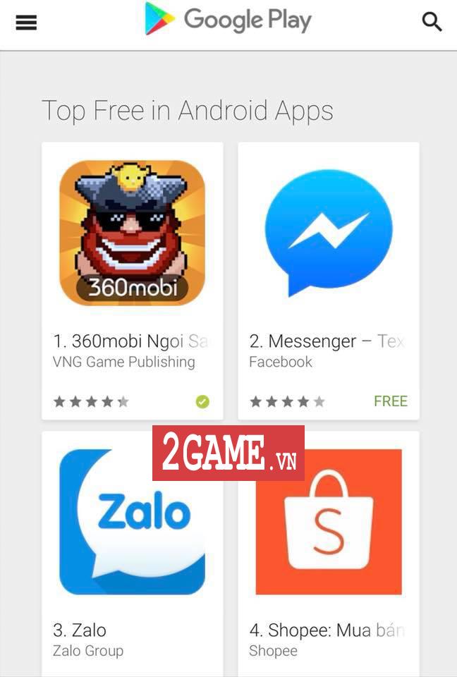 Điều gì khiến 360mobi Ngôi Sao Bộ Lạc lọt vào Top 1 trên Google Play?! 0