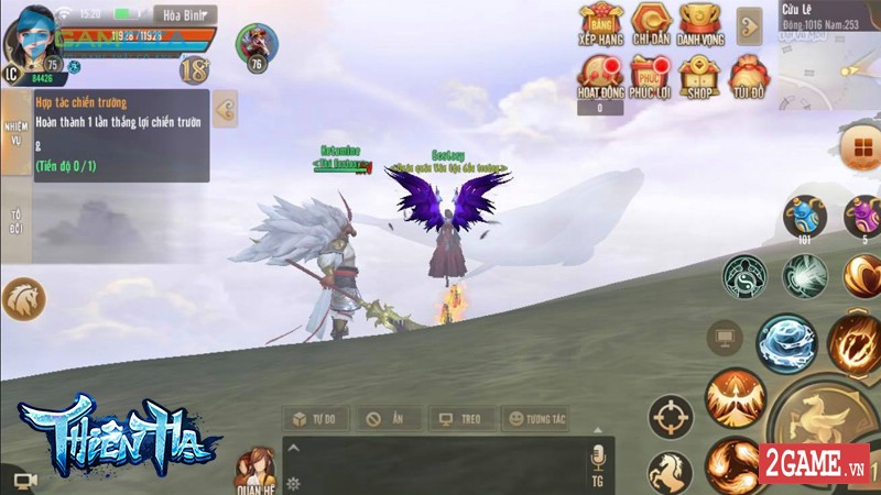 Người chơi có lực chiến khủng nhất S6 Thiên Hạ Gamota lãnh thưởng 1