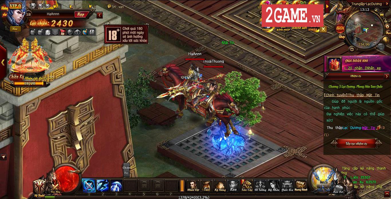 Trải nghiệm Võ Thần PK: Đánh nhau luôn là phần thú vị nhất của game này! 0