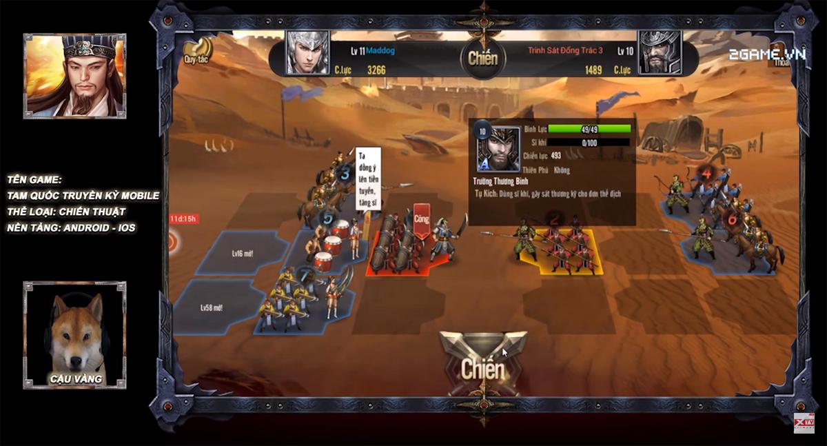 Cậu Vàng cầm quân khiển tướng đầy điêu luyện trong Tam Quốc Truyền Kỳ Mobile 0